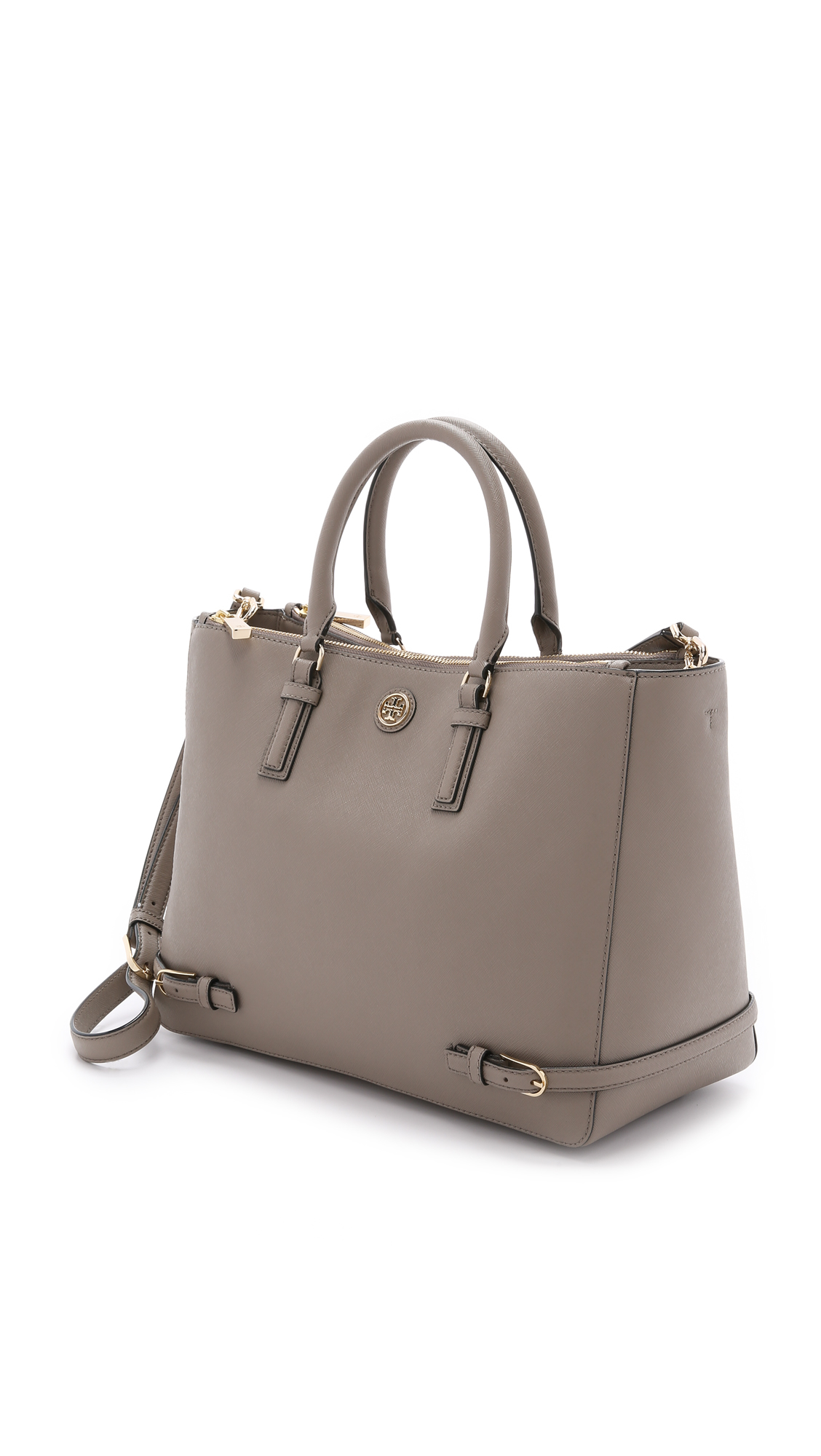 Tory burch Robinson Multi Tote - French Gray in Gray | Lyst