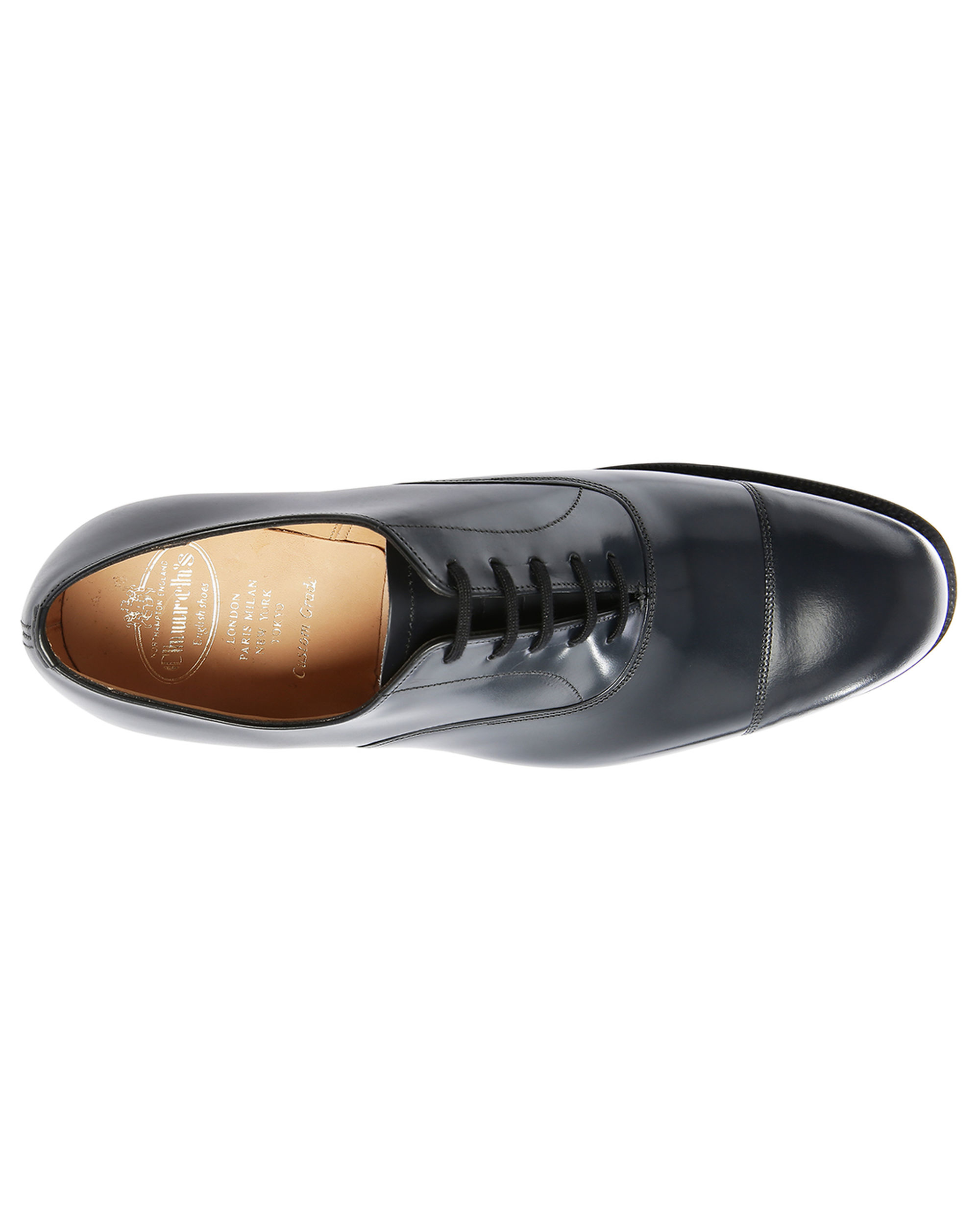 Church's Consul G Navy Polished Leather Tip Toe Brogues in ...