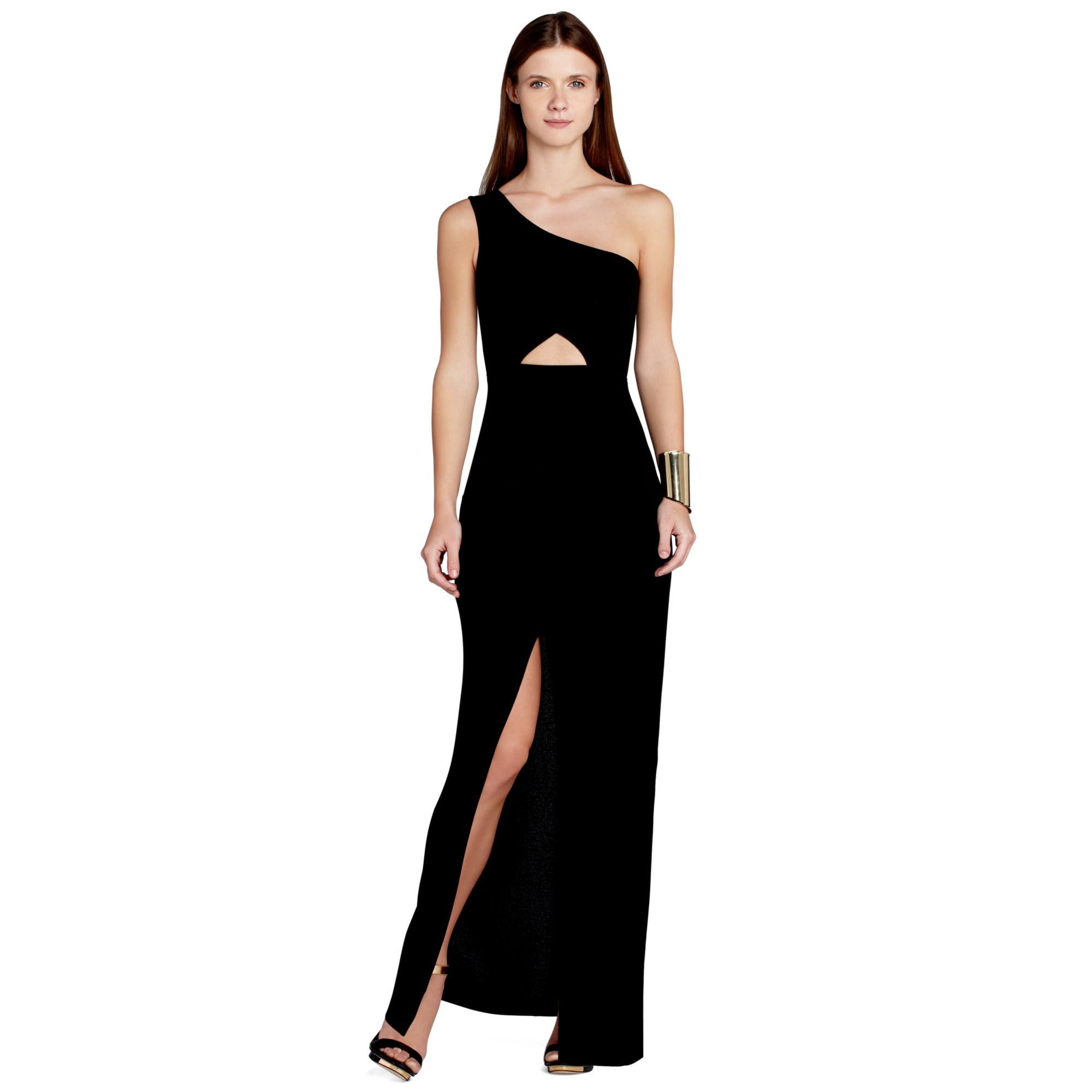 Lyst - Bcbgmaxazria Maxazria Oneshoulder Cutout Gown in Black