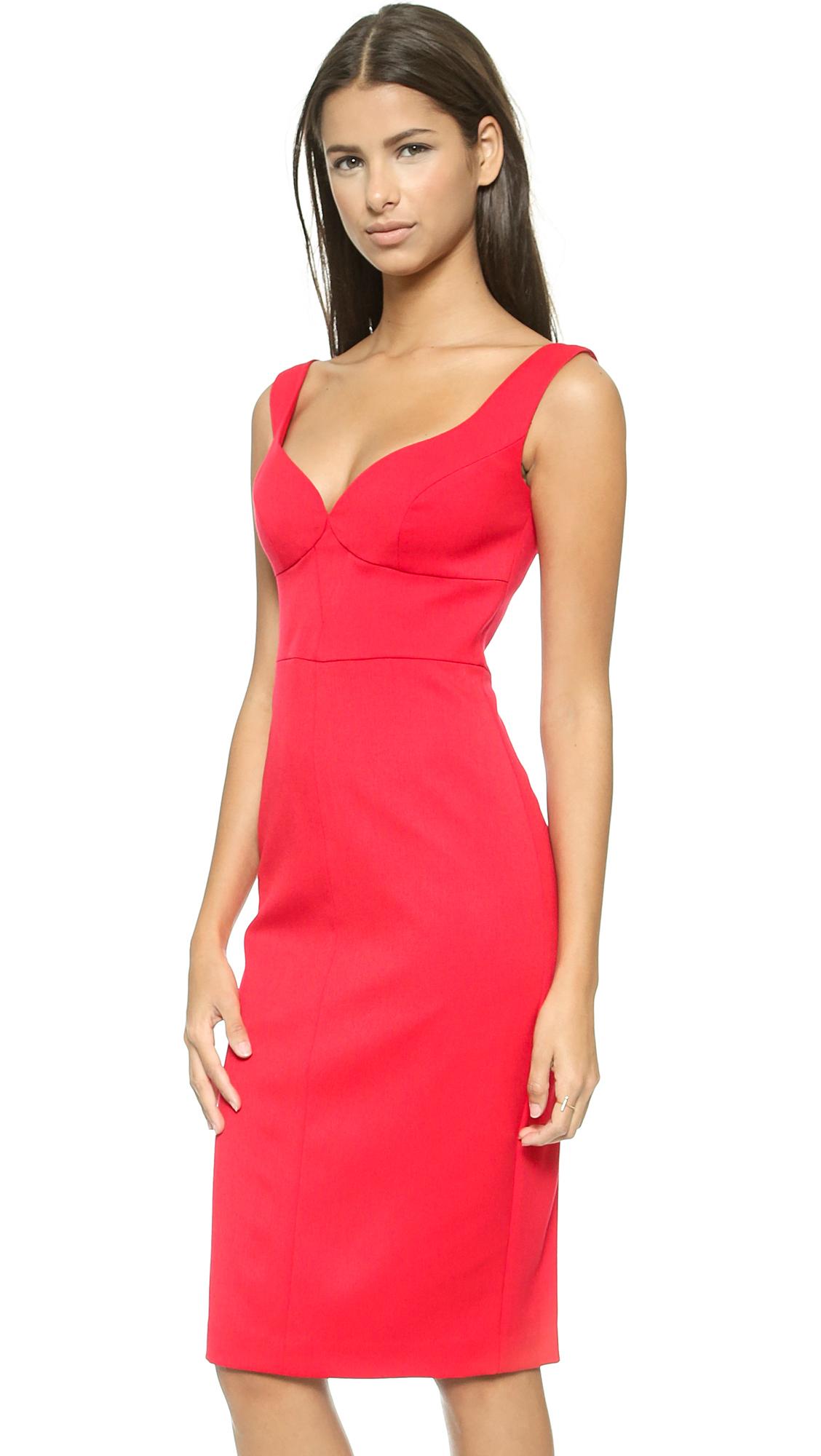 Black halo Ally Sheath Dress in Red  Lyst