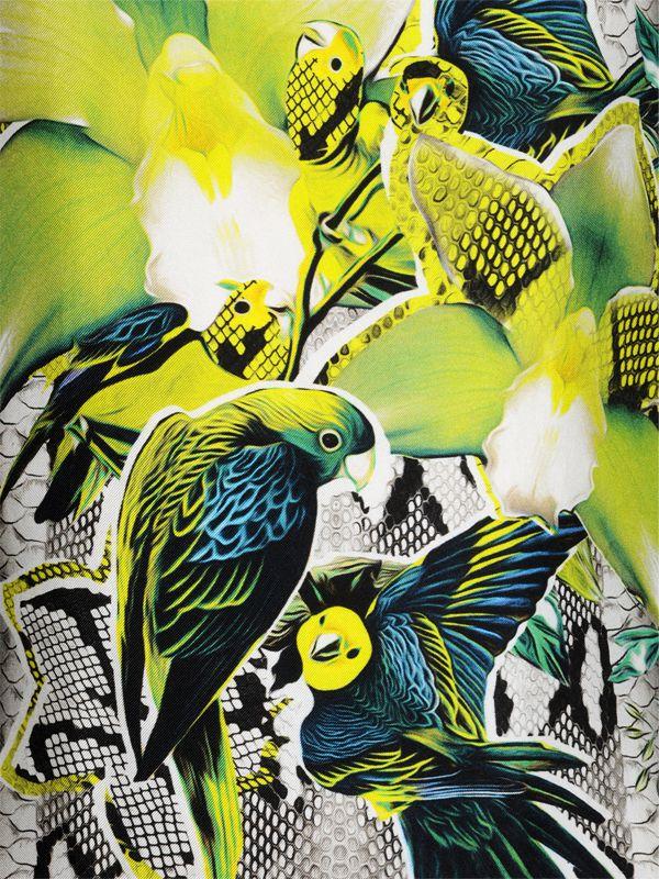 Lyst Roberto Cavalli Printed Silk Satin Amp Georgette Dress