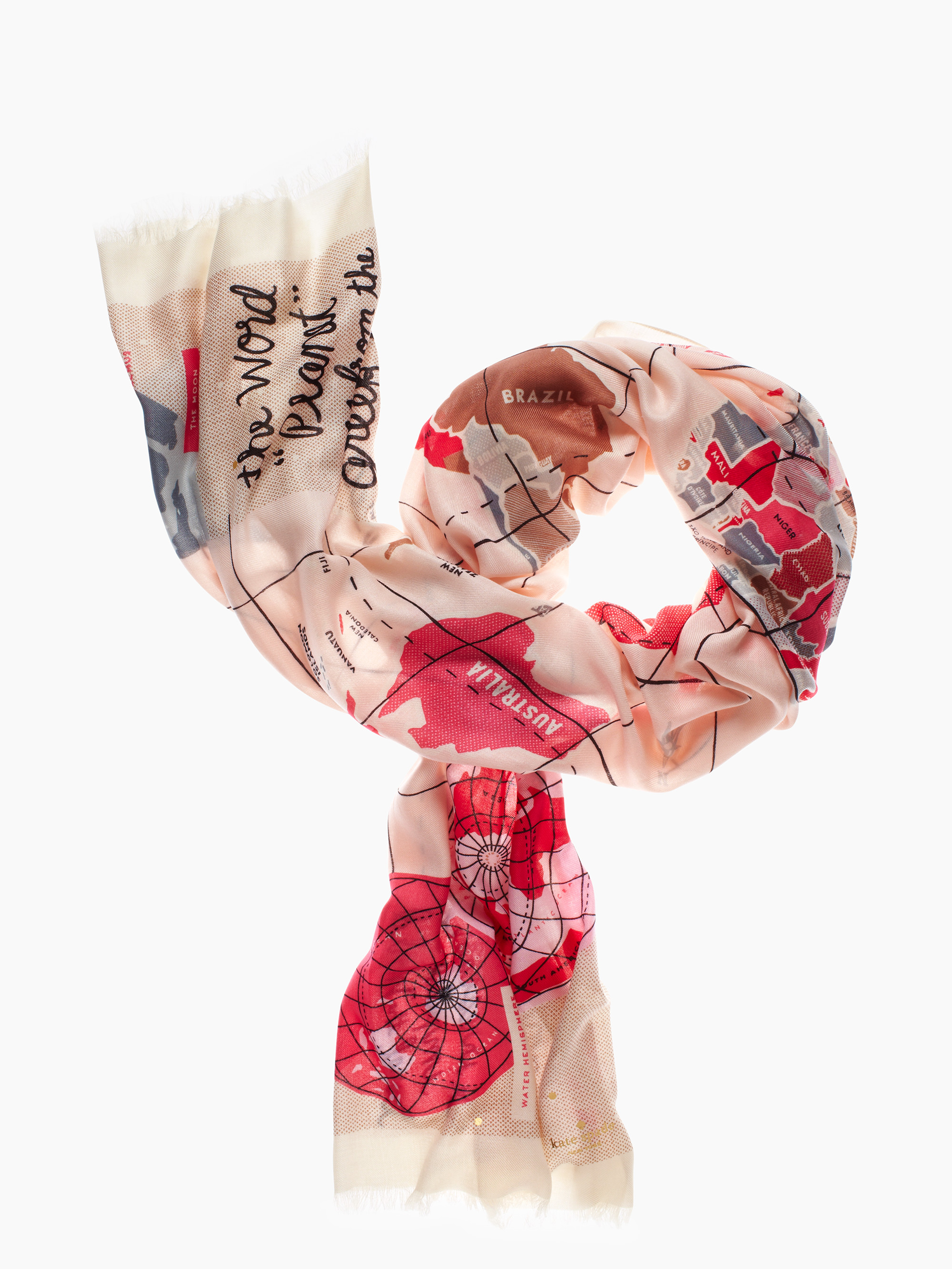 Lyst kate spade new york world map scarf gallery sciox Image collections