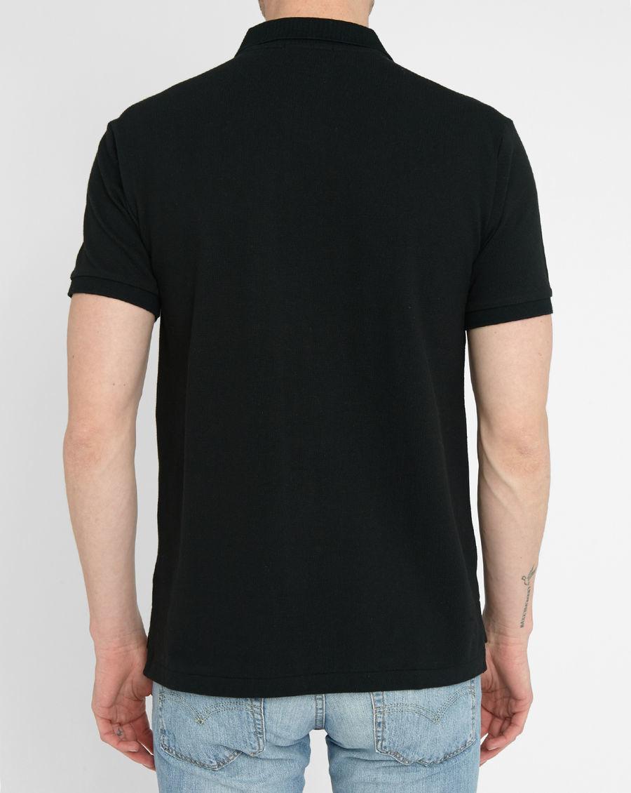 polo ralph lauren black slim fit polo shirt in black for. Black Bedroom Furniture Sets. Home Design Ideas