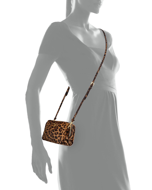 Prada Leopard-print Calf Hair Mini Crossbody Bag in Animal ...