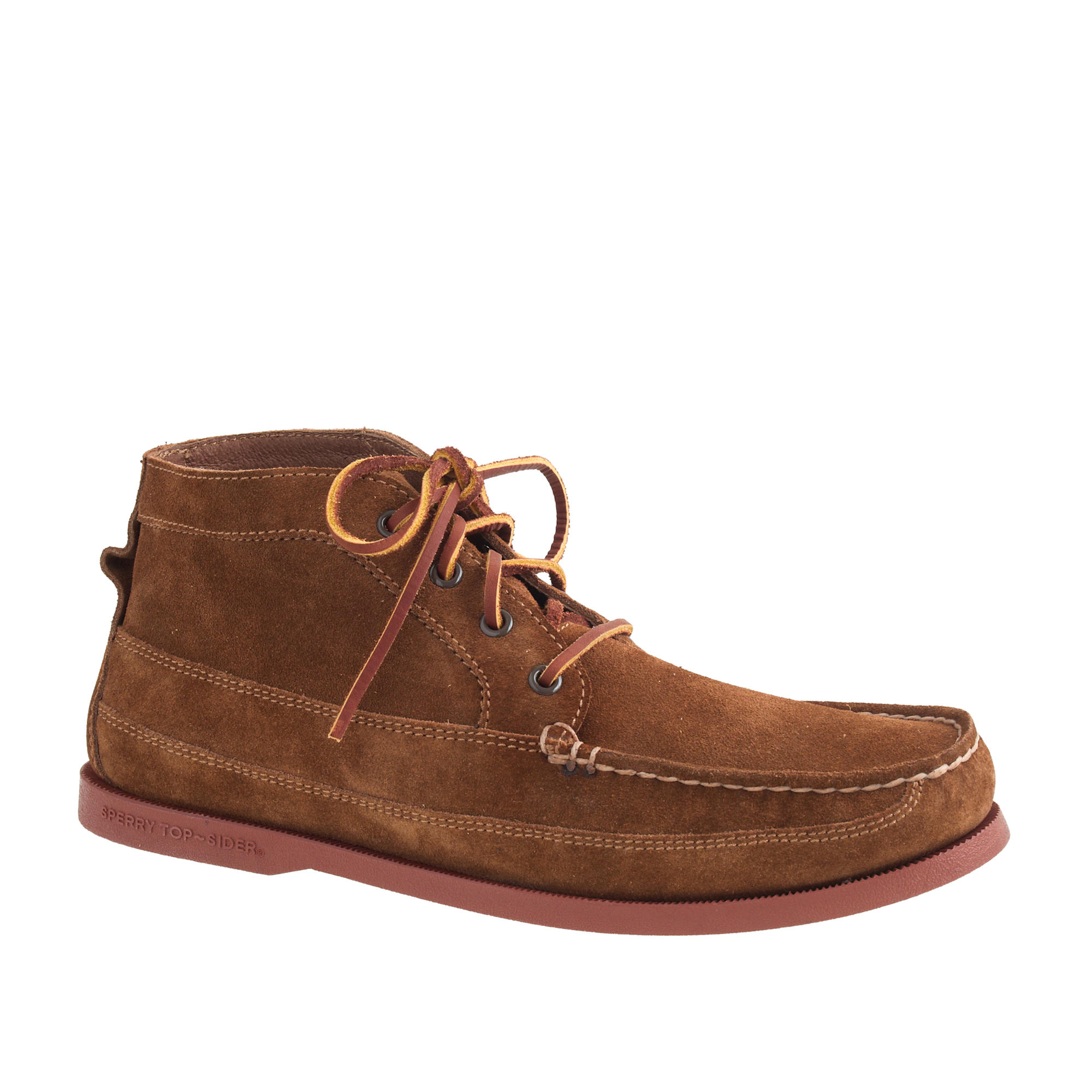 sperry top sider suede chukka boots in brown for lyst