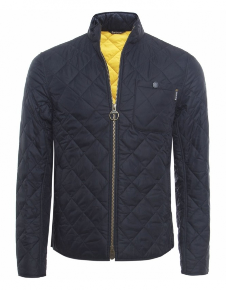 Barbour Axle Quilted Jacket In Blue For Men Navy Lyst