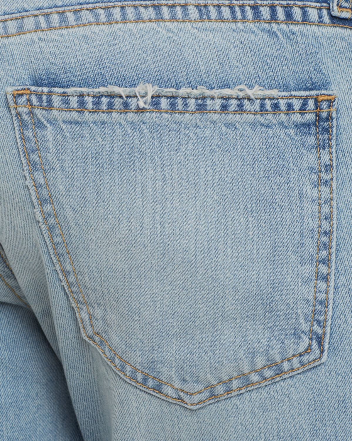 Current/Elliott Jeans - The Cropped Straight In Sealine Destroy in Blue
