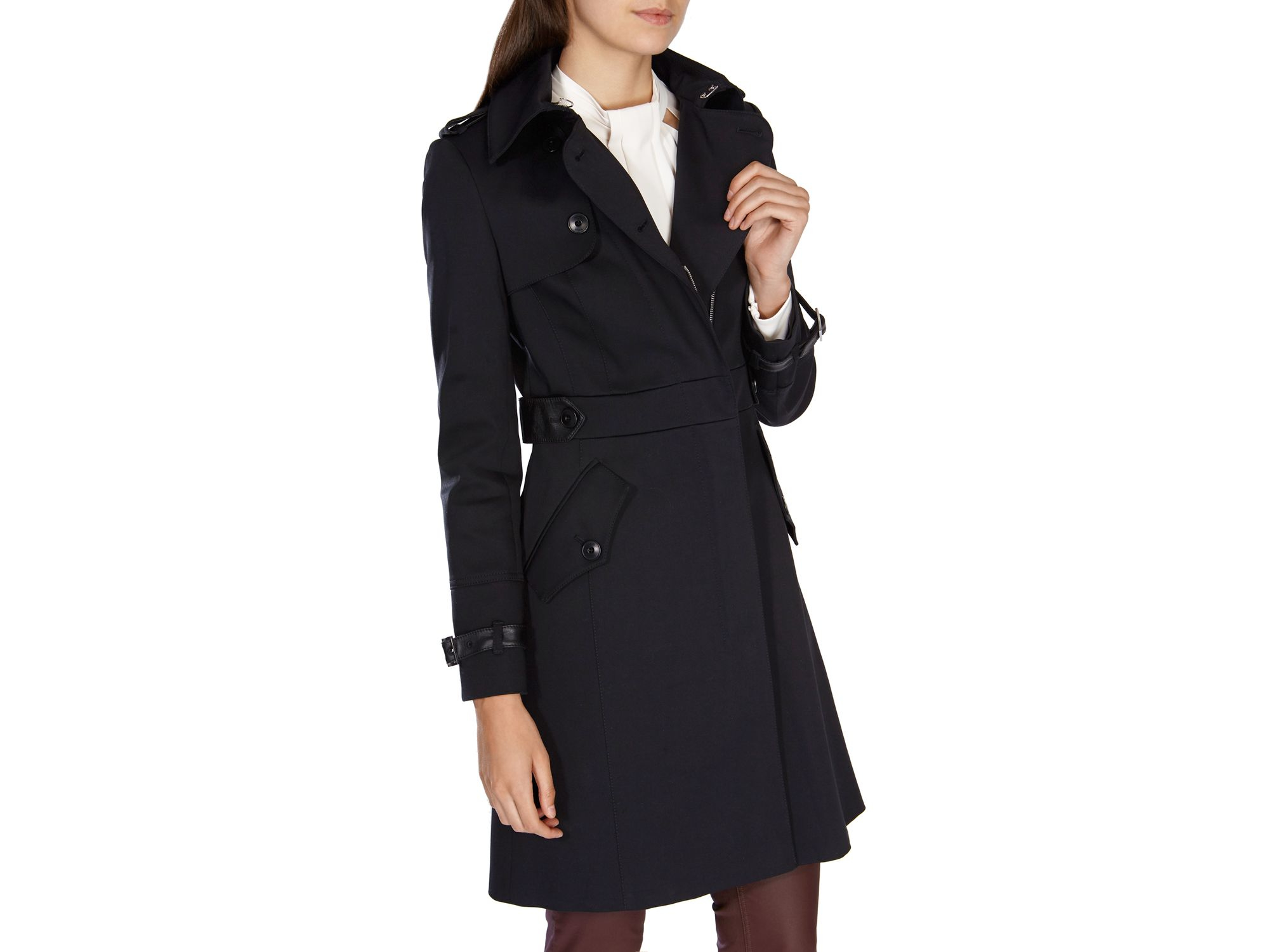 cheaper sale unparalleled high fashion Karen Millen Black Zip Front Trench Coat