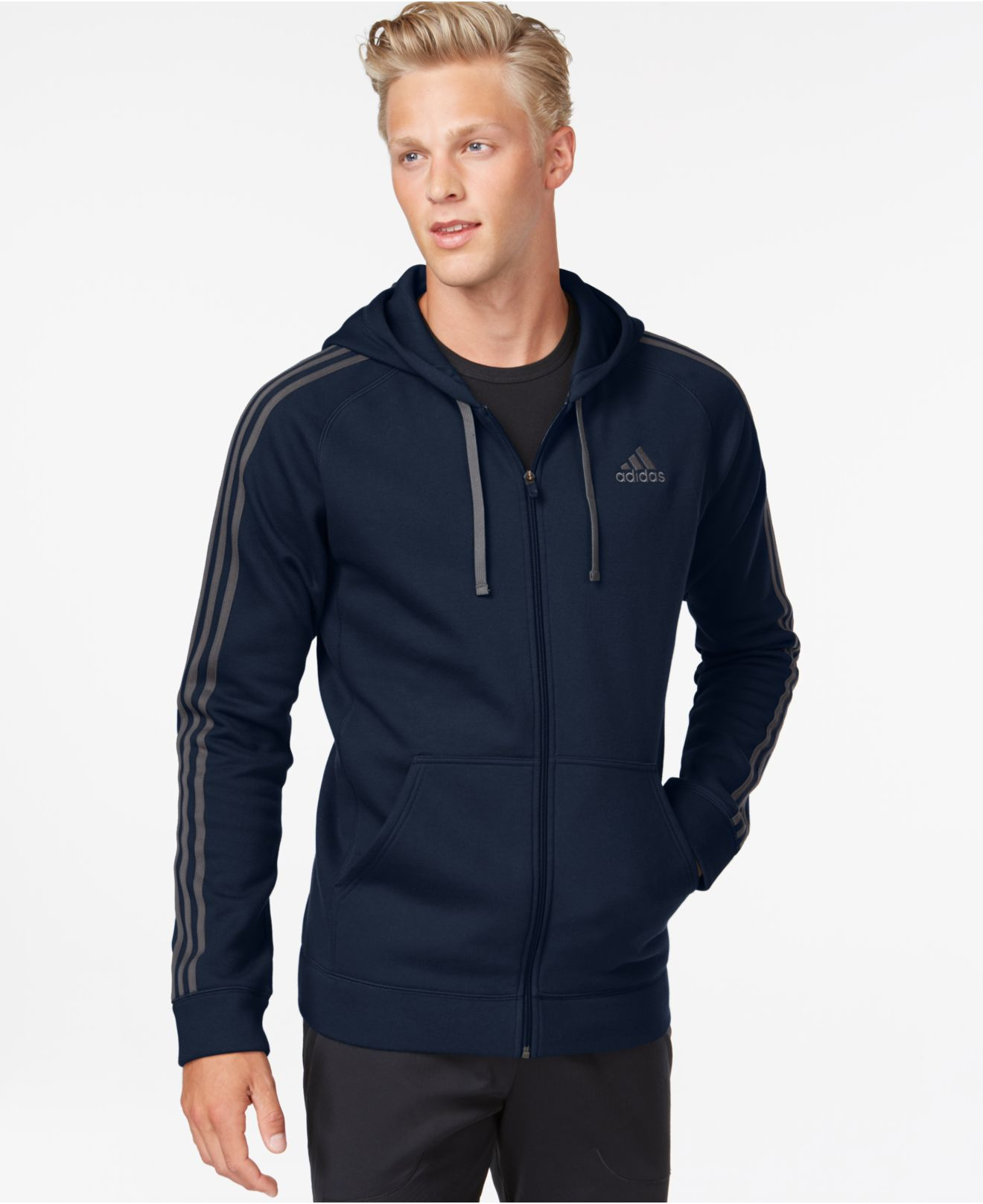 Adidas Big And Tall Essentials Cotton Fleece Full Zip