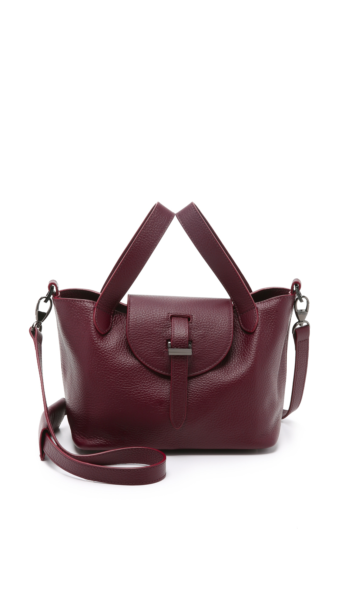 lyst meli melo thela mini bag burgundy in purple. Black Bedroom Furniture Sets. Home Design Ideas
