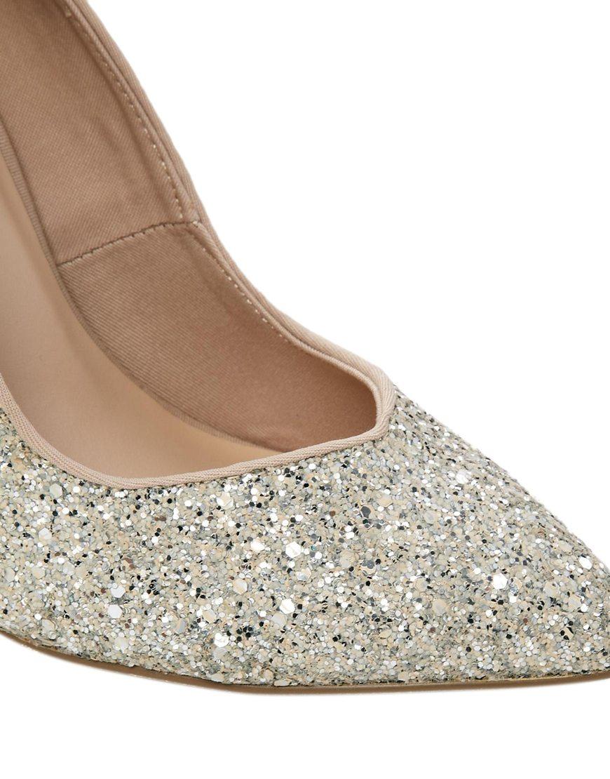 8d8a6fec621 Carvela Kurt Geiger Metallic Leila Glitter Pointed Heeled Shoe