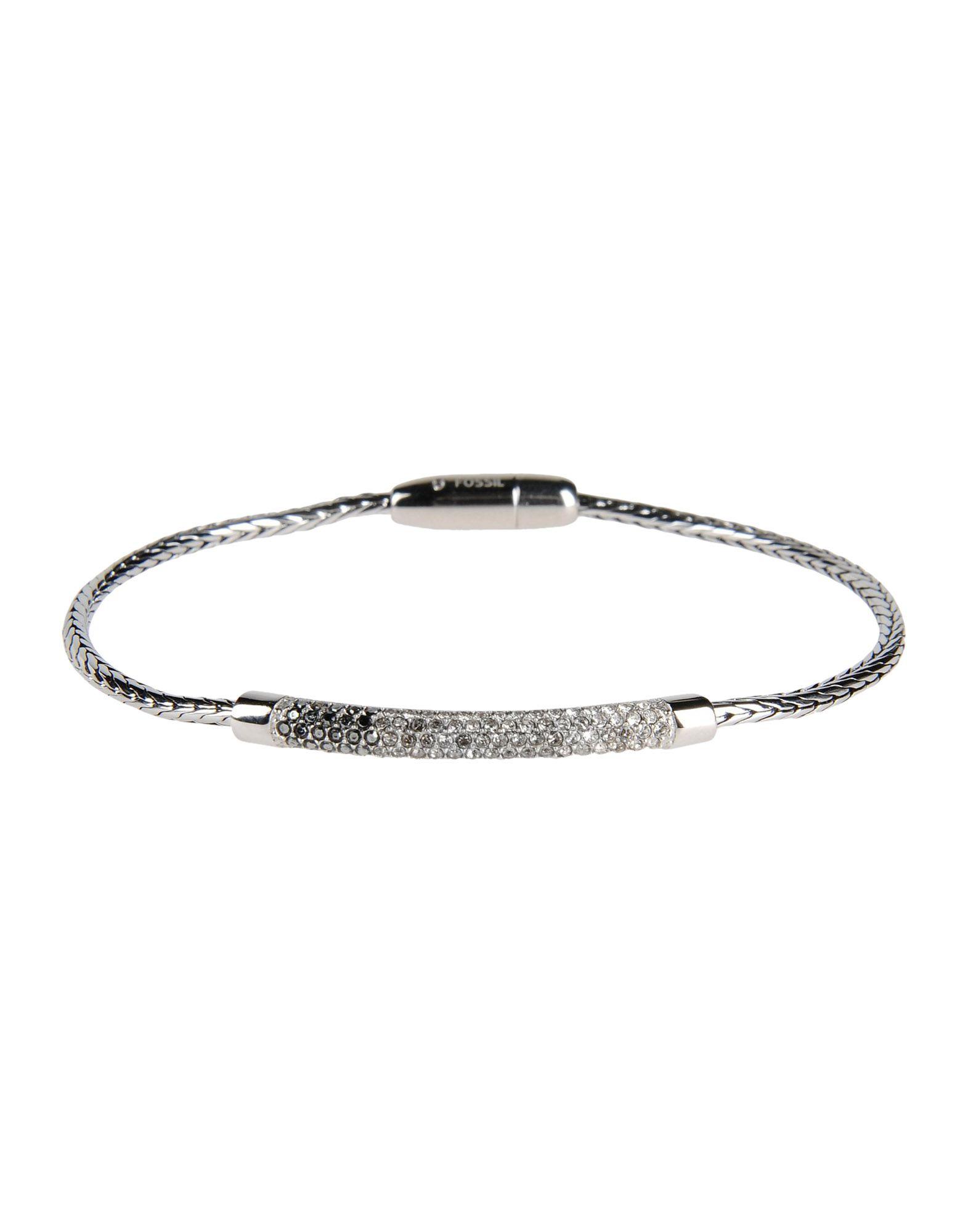 fossil bracelet in silver lyst