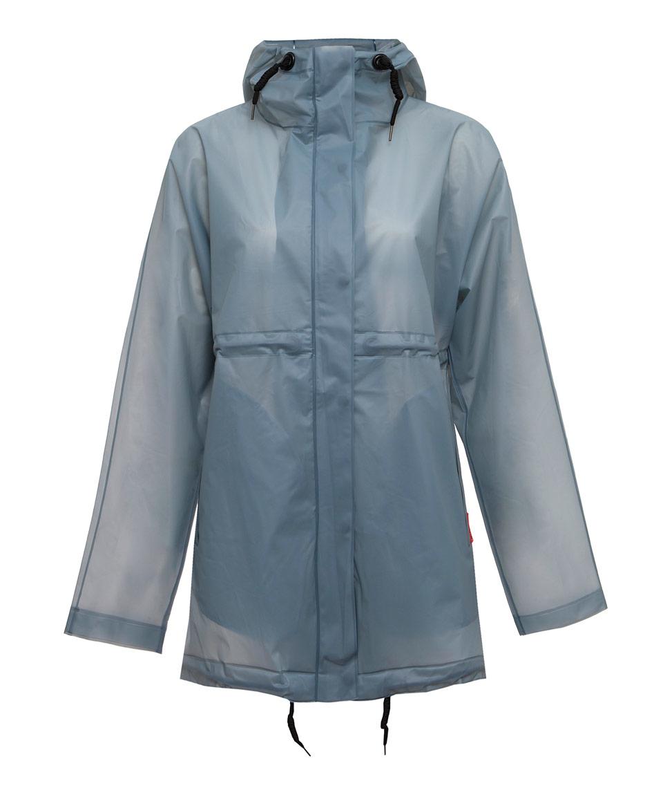 Hunter Light Blue Clear Vinyl Smock Jacket In Blue Lyst