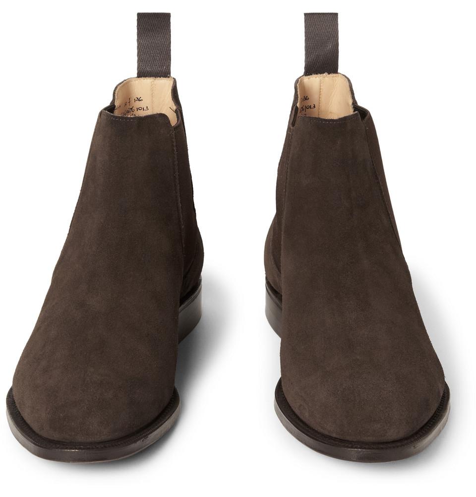 Beijing Suede Chelsea Boots in Brown