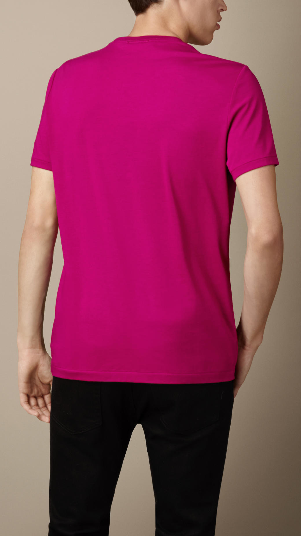 c255f1e1c Burberry Liquid-Soft Cotton T-Shirt in Pink for Men - Lyst