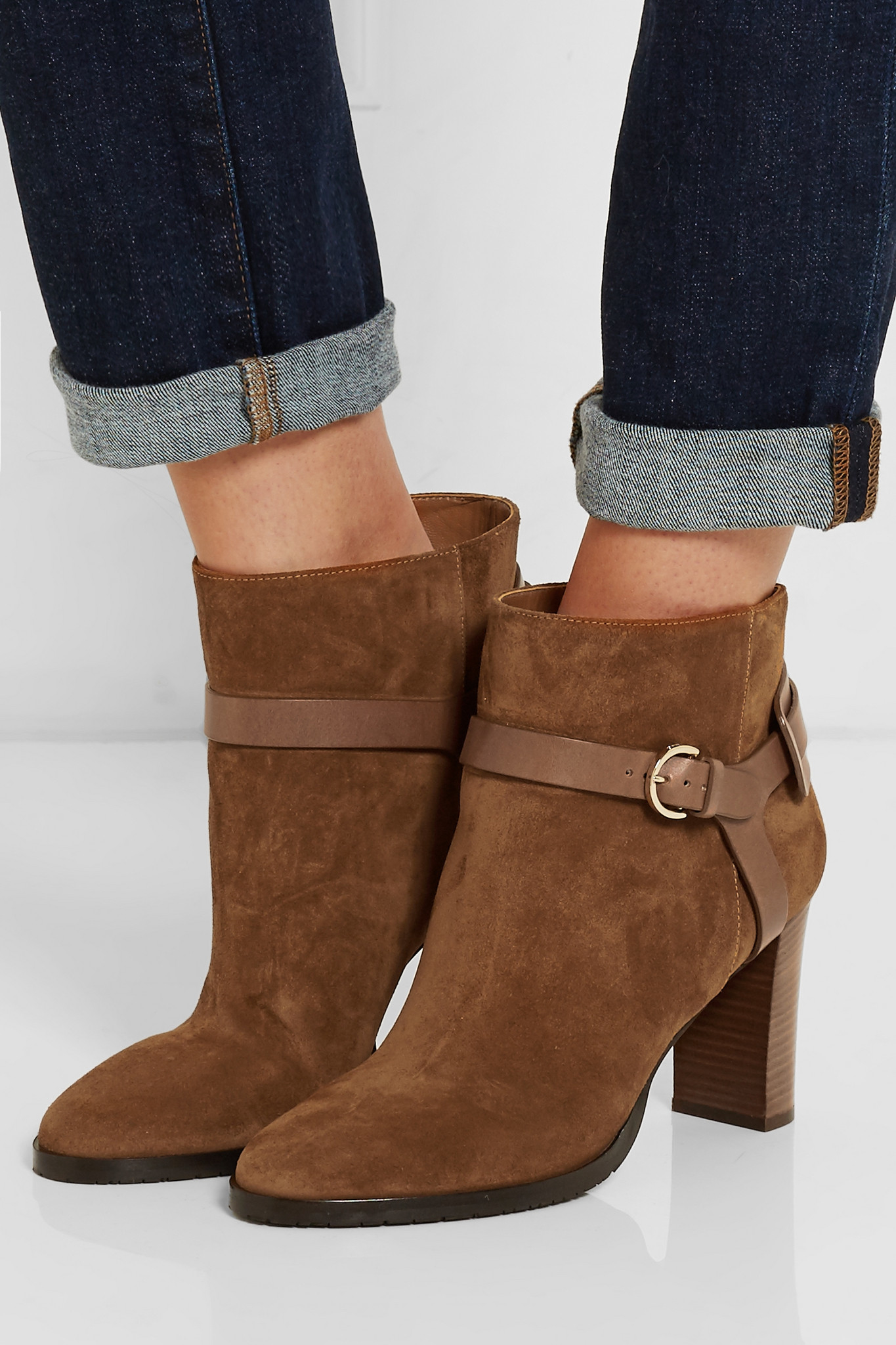 sale geniue stockist excellent for sale Jimmy Choo Suede Round-toe Ankle Boots outlet pay with visa authentic sale online 4CtjNde0