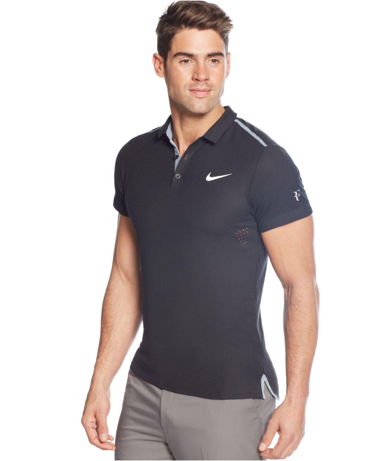 Nike Performance Polo >> Nike Black Advantage Premier Performance Polo For Men