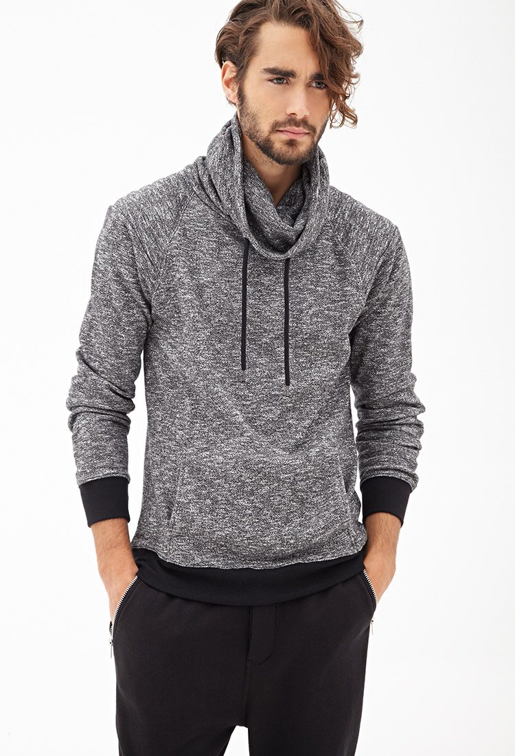 Forever 21 Marled Funnel Neck Pullover In Gray For Men Lyst