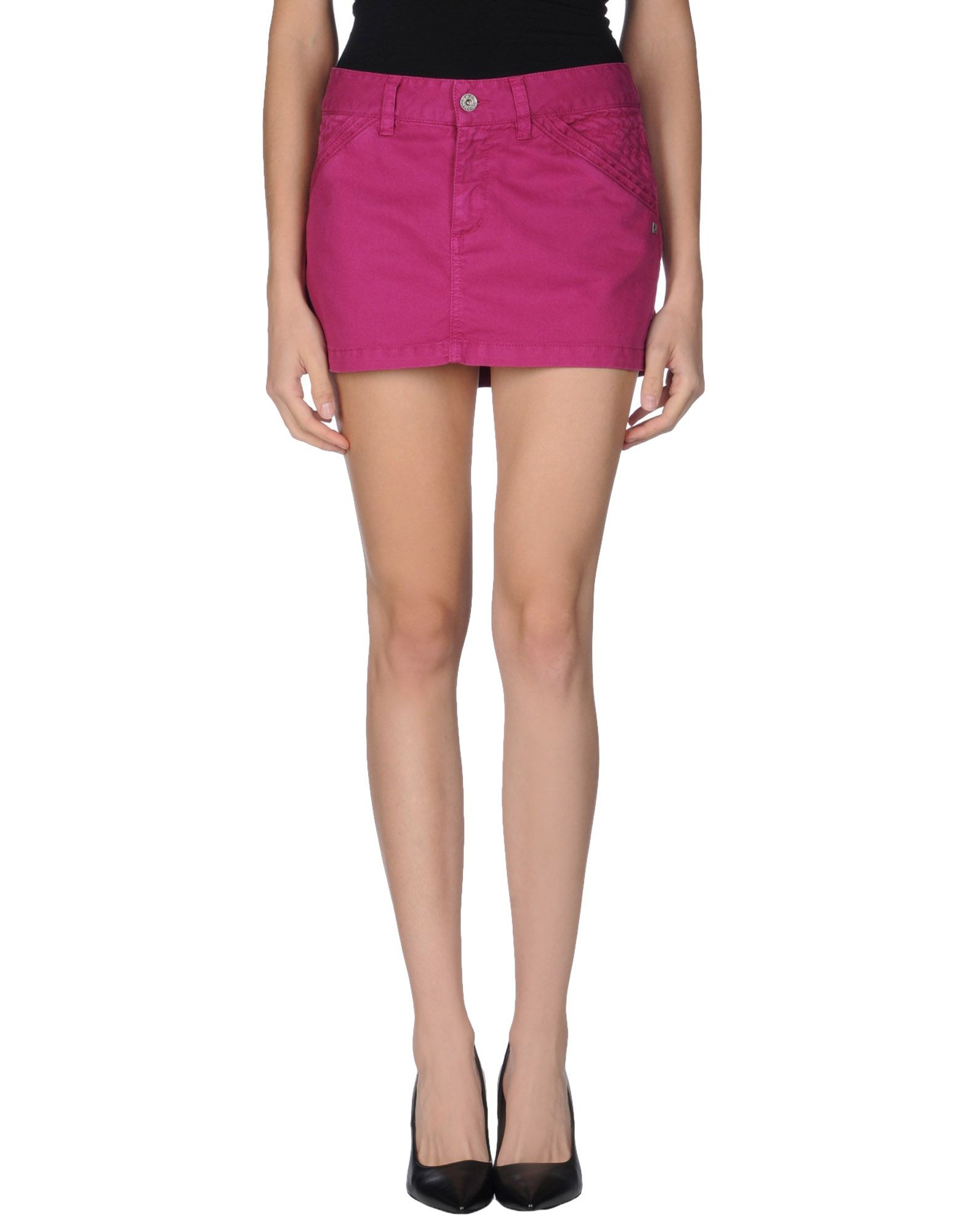 diesel denim skirt in purple garnet lyst