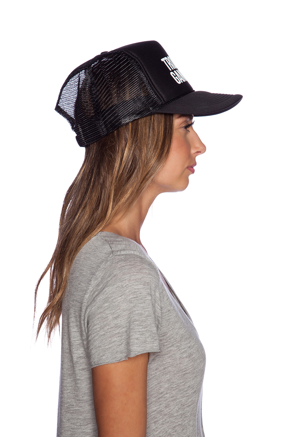 Lyst Samudra Tropical Gangster Trucker Hat In Black