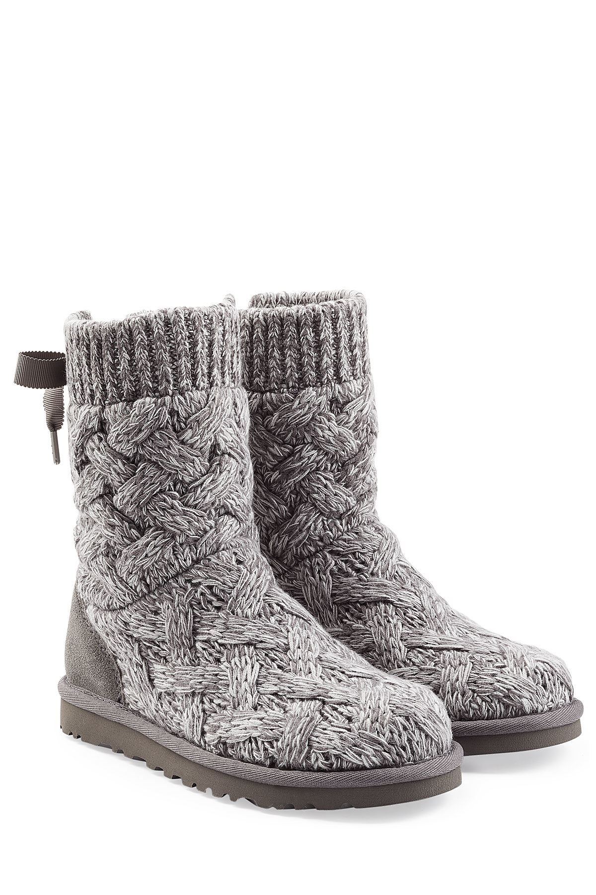 496aa59a932 Ugg Gray Isla Knit Boots - Compare At $150
