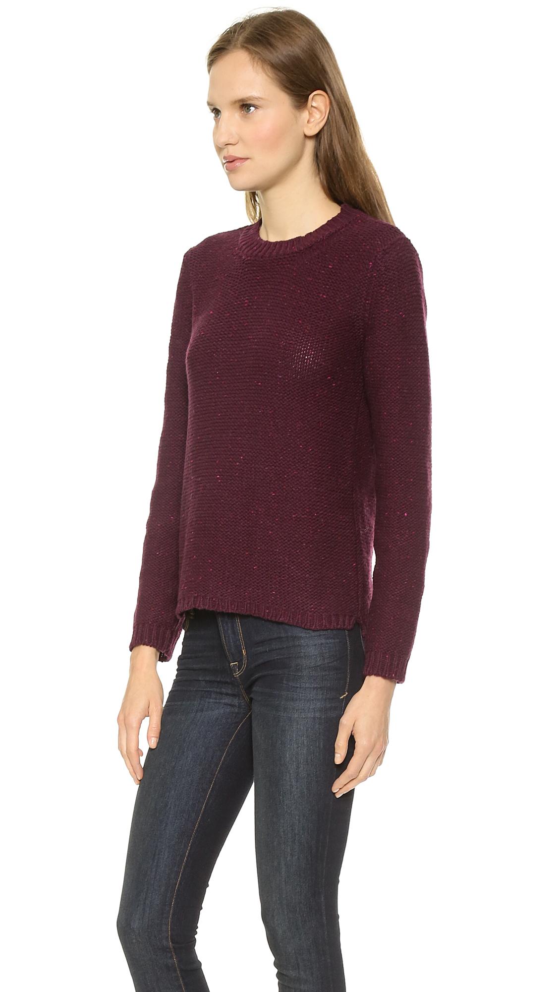 lyst a p c mariniere femme pullover sweater merlot in purple. Black Bedroom Furniture Sets. Home Design Ideas
