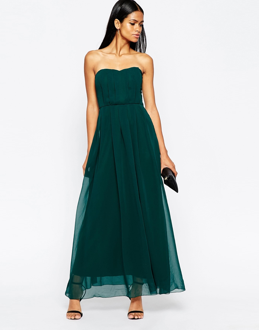 Ax paris bandeau printed maxi dress