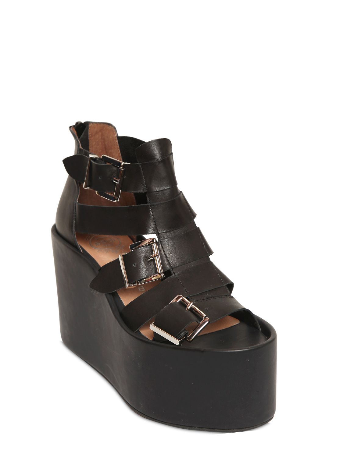 Jeffrey Campbell 100mm Achilles Belted Leather Sandals In