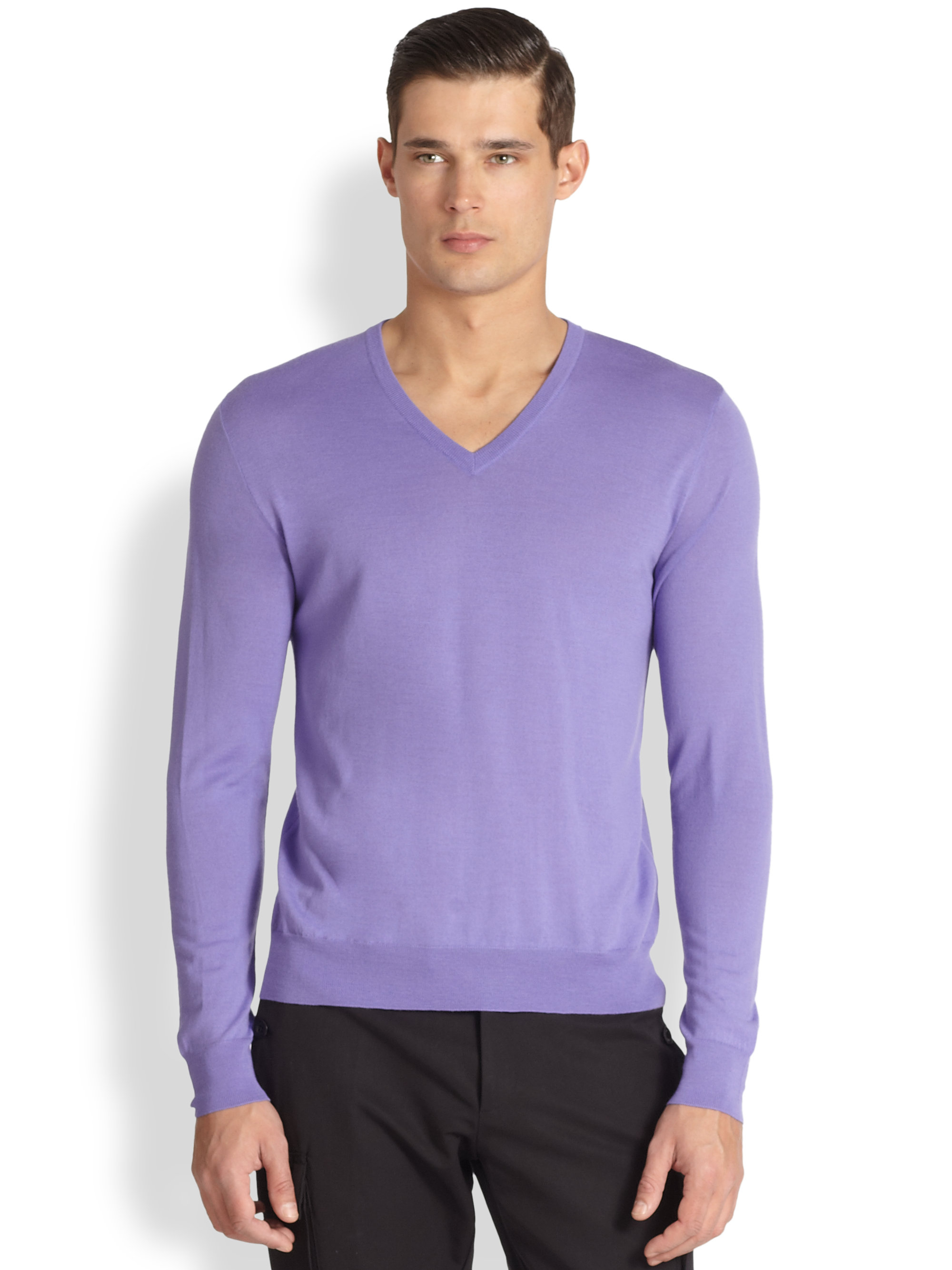 Ralph lauren black label Wool And Cashmere V-Neck Sweater in ...