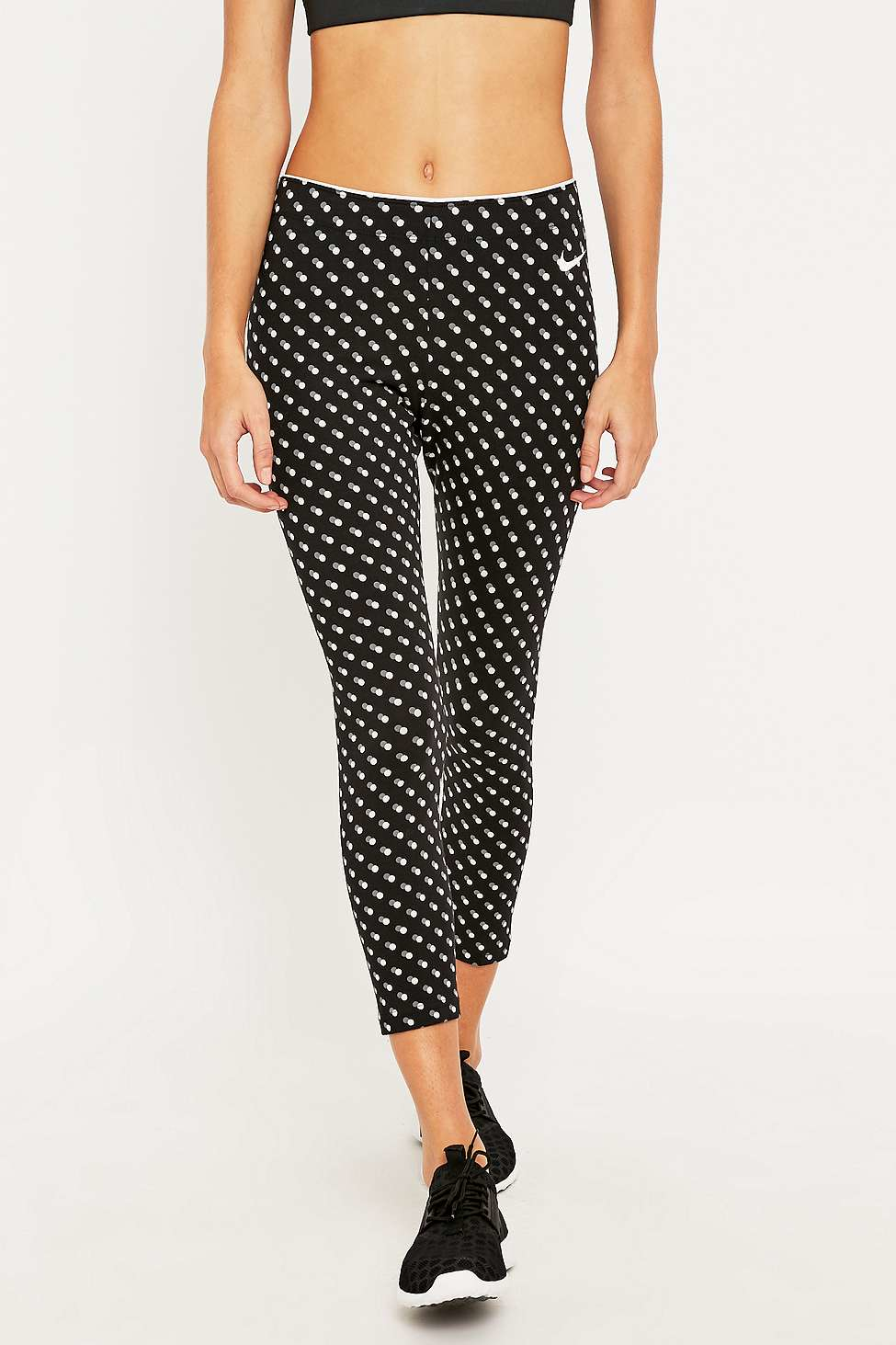 Nike Polka Dot Leggings in Black | Lyst