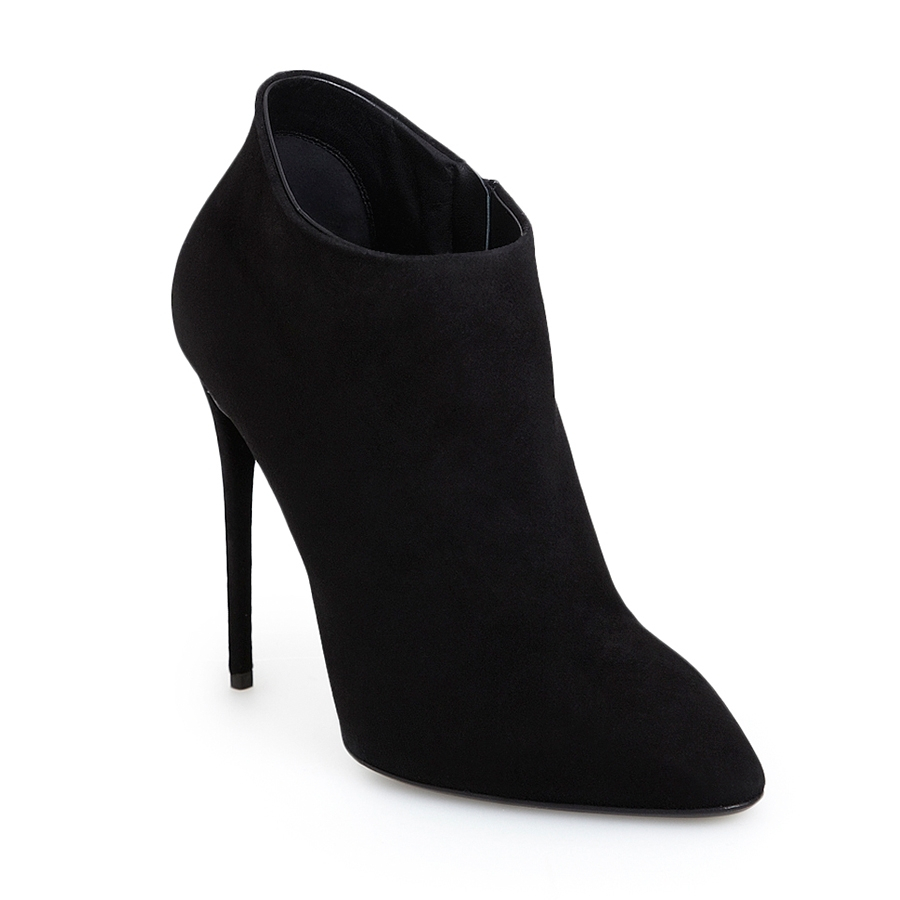 9a3db44d7a2 Lyst - Giuseppe Zanotti Olinda Black Suede Ankle Bootie in Black