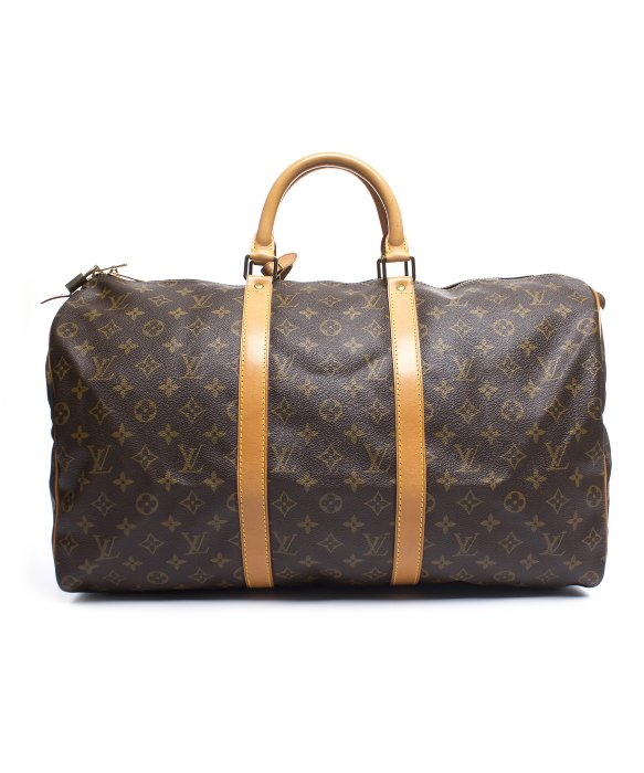 Louis Vuitton Trash Bags Gallery Louis Vuitton Brown Pre Owned Lous Vuitton Monogram Canvas Keepall 55