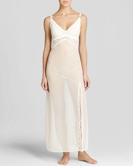 Blush Lingerie Reverie Long Gown In White (Ivory)