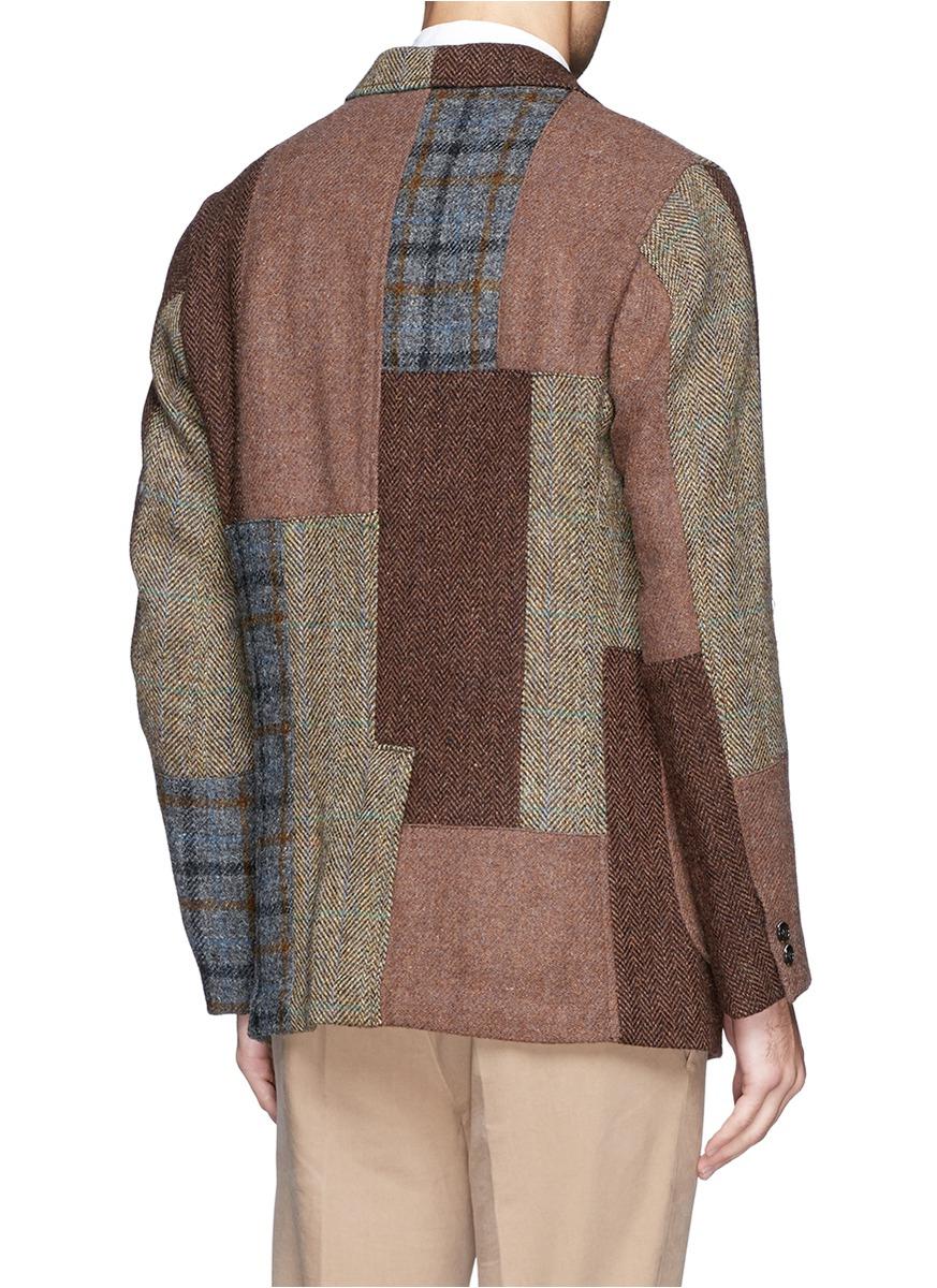 62752efd0926 Lyst - Beams Plus Harris Tweed Patchwork Blazer for Men