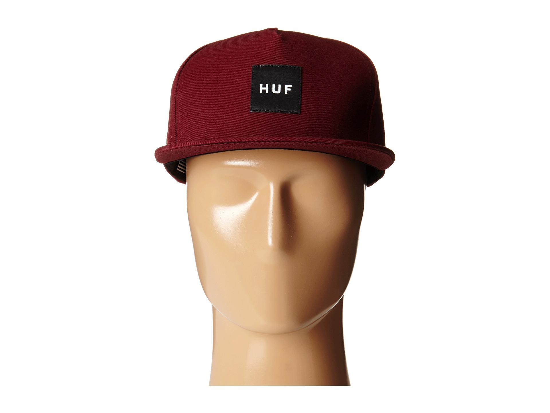feaa47d24b4 Lyst - Huf Box Logo Snapback in Purple