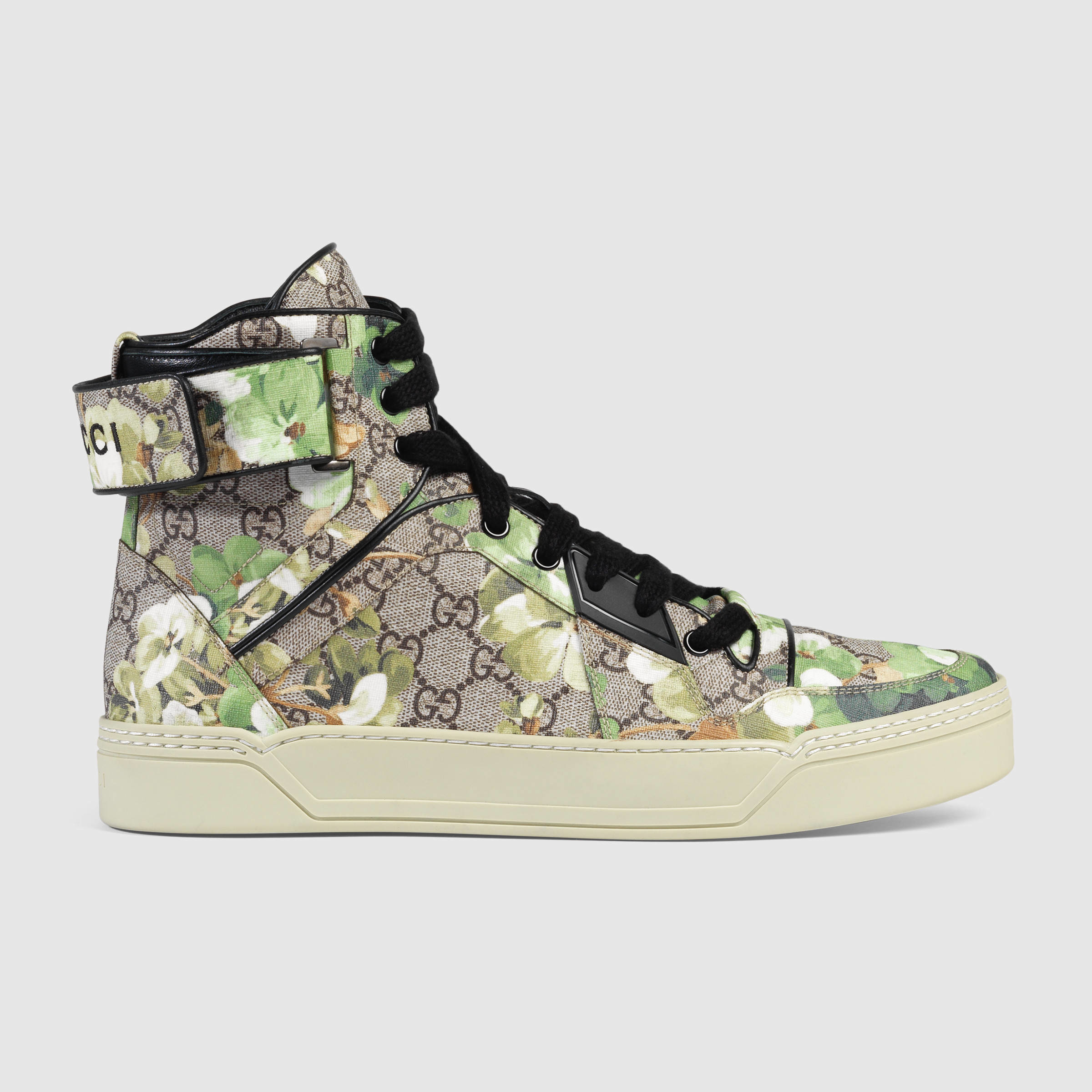 717056cf694 Lyst - Gucci Blooms Print High-top Sneaker in Green for Men