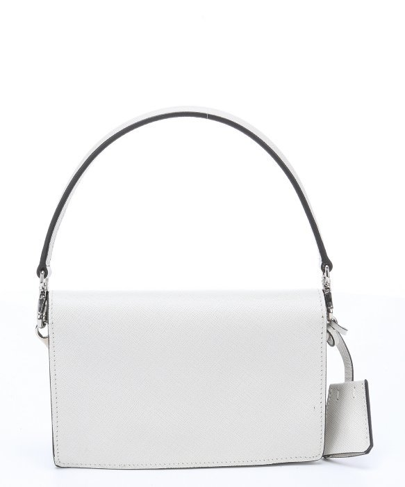 Prada White Saffiano Leather Convertible Mini Shoulder Bag in ...