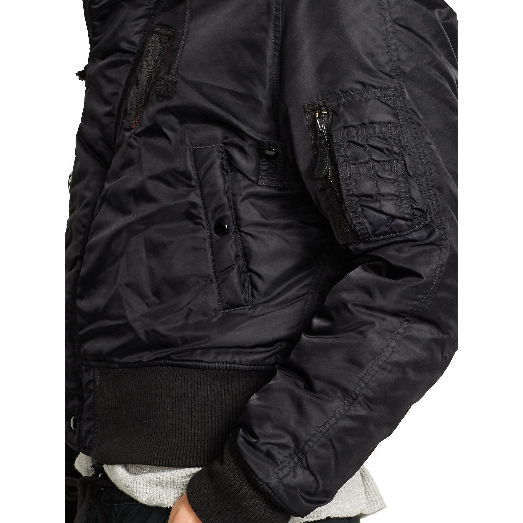 64160540f Denim & Supply Ralph Lauren Black Down Bomber Jacket for men