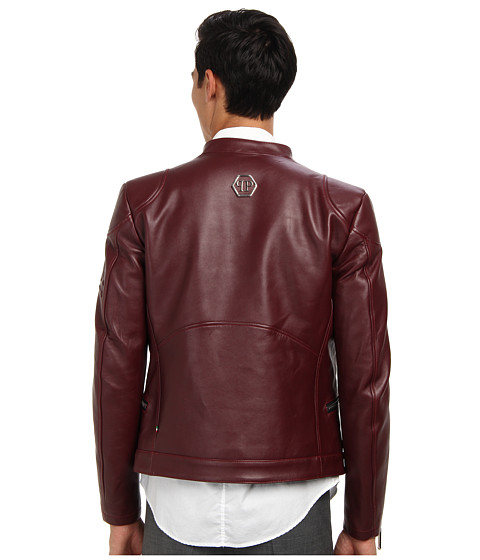 Lyst Philipp Plein Force Leather Jacket In Red For Men