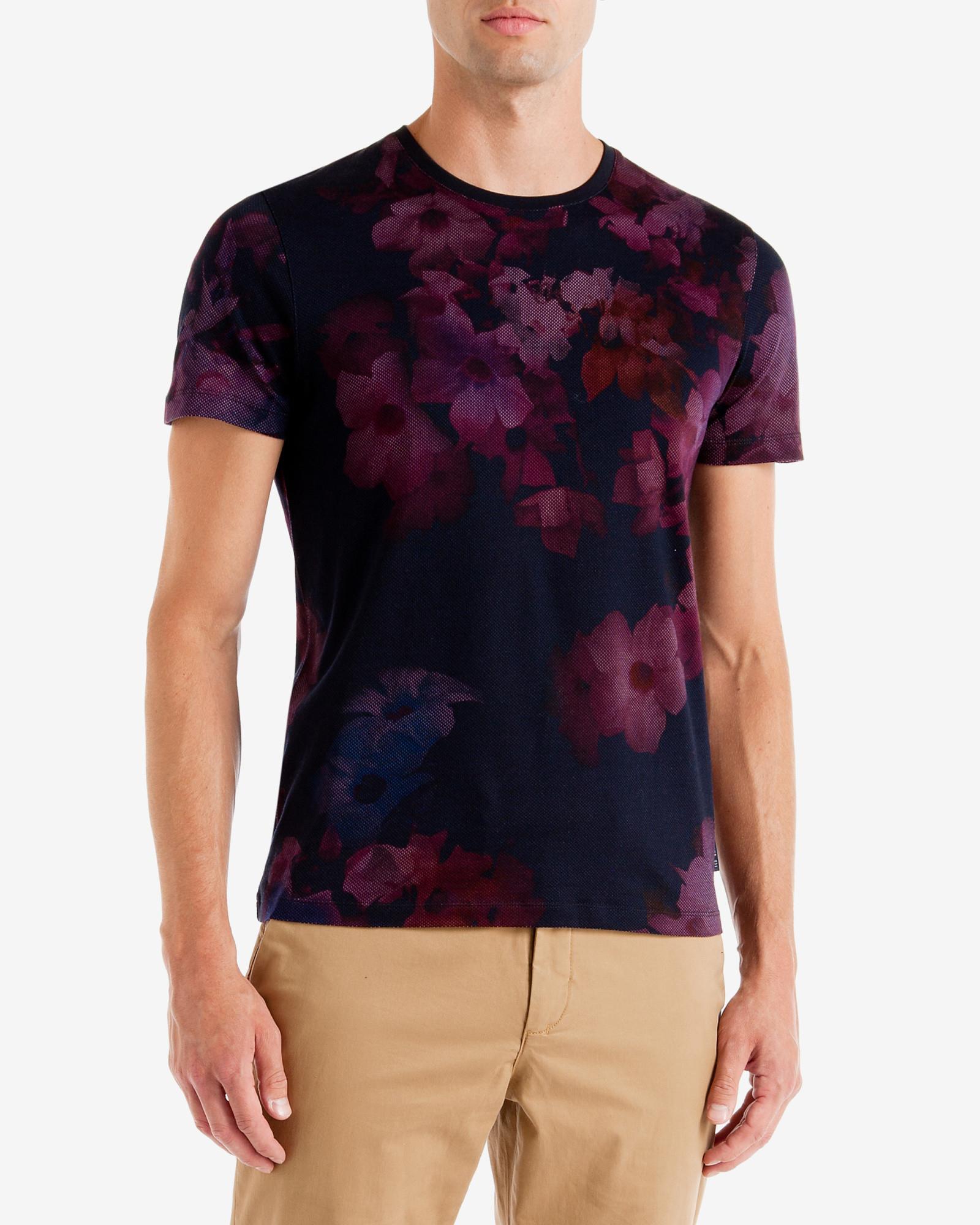 Lyst ted baker vylot digital floral print t shirt for men for Ted baker floral print shirt