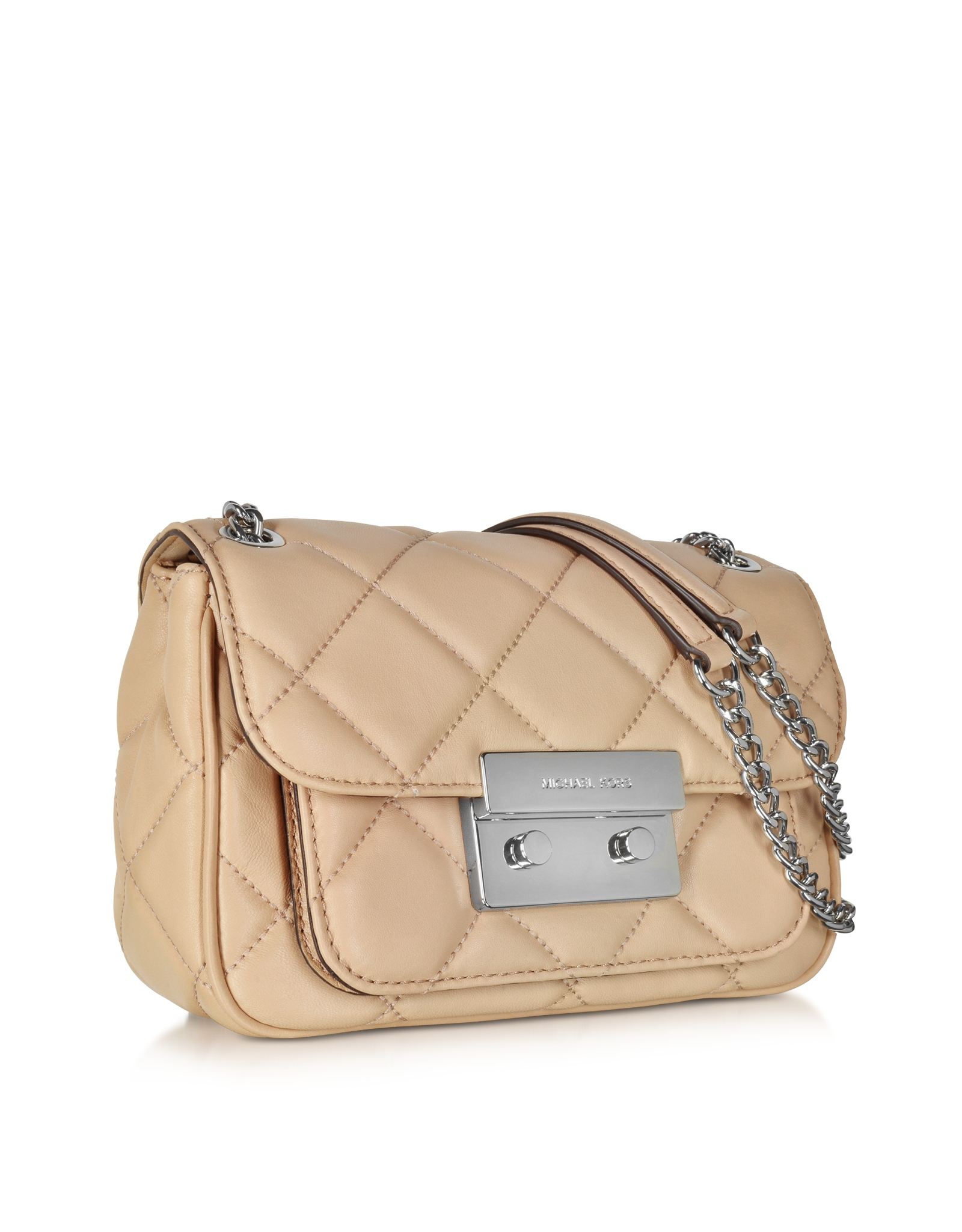 Michael kors Small Blush Quilted Leather Shoulder Bag W/flap Top ...