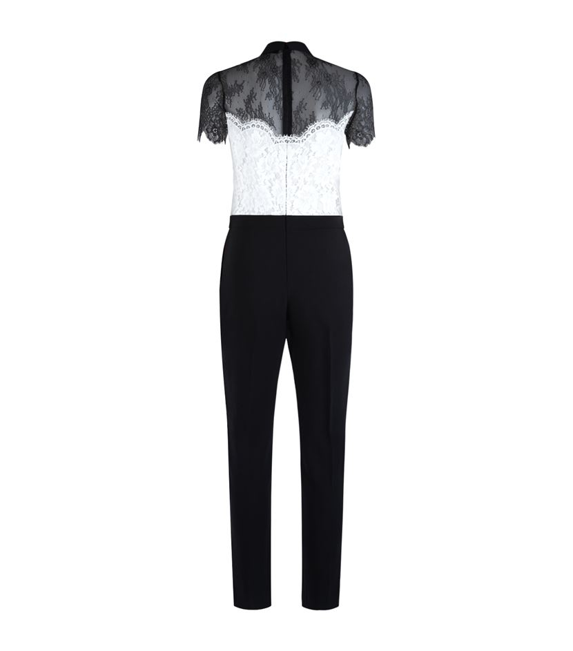 a193c9fdc8e Sandro Pessy Lace Jumpsuit in Black - Lyst