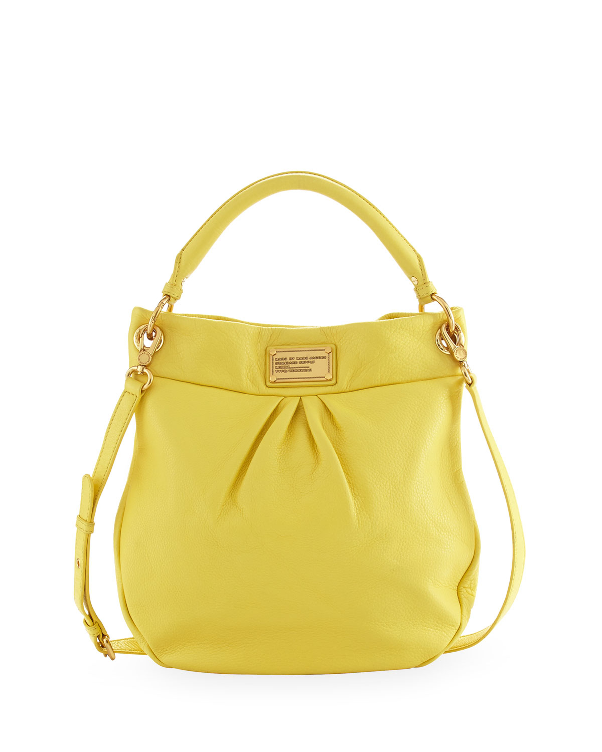 Lyst - Marc By Marc Jacobs Classic Q Hillier Hobo Bag in Yellow 8f26fe8a6d9b