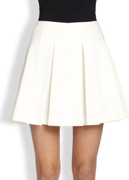 moschino cheap chic pleated mini skirt in white lyst