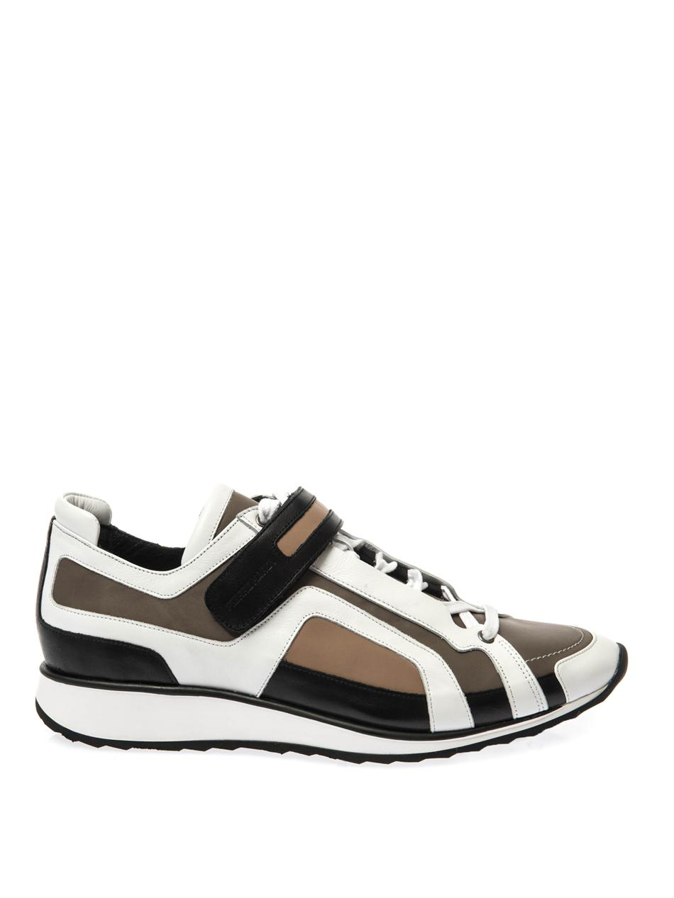 Pierre Hardy Leather Trainers in Brown for Men