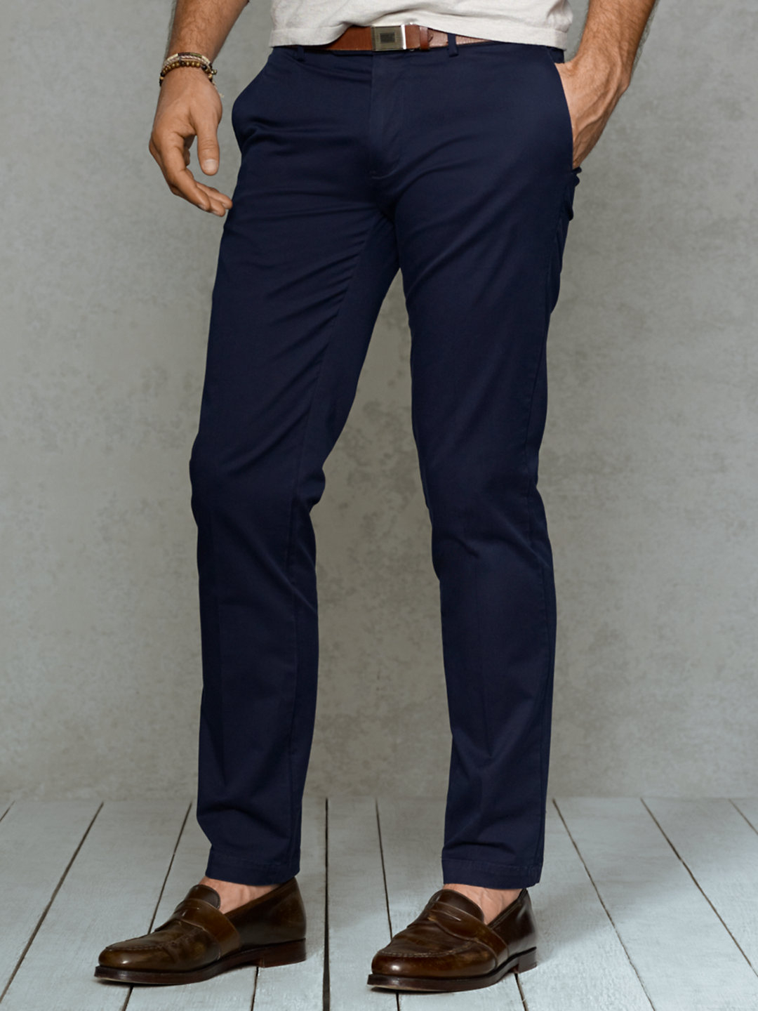 f7362884 Polo Ralph Lauren Blue Slim-fit Stretch-chino Pant for men