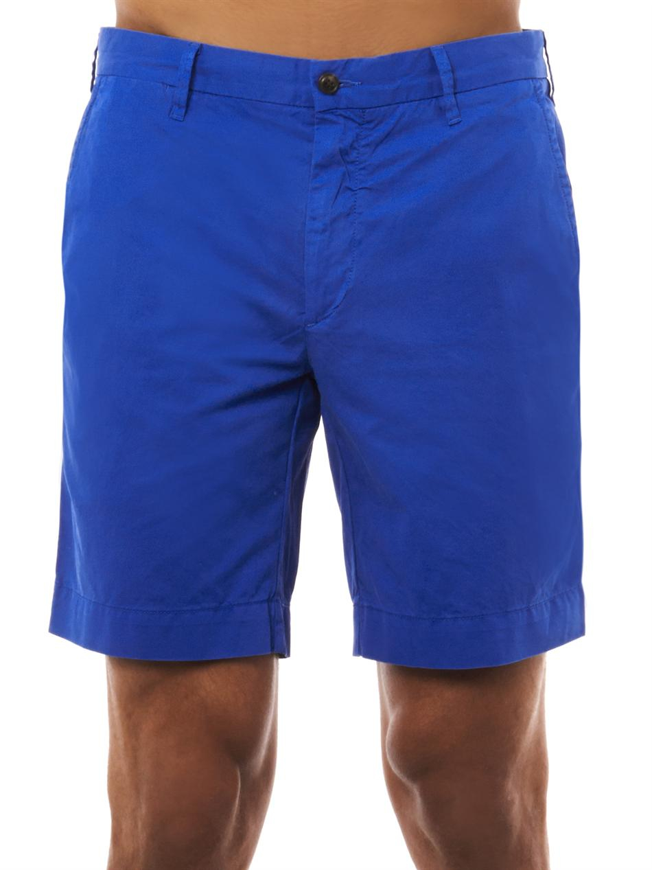 0dc387edb0a9 ... where to buy lyst polo ralph lauren straight fit newport cotton shorts  in blue for men