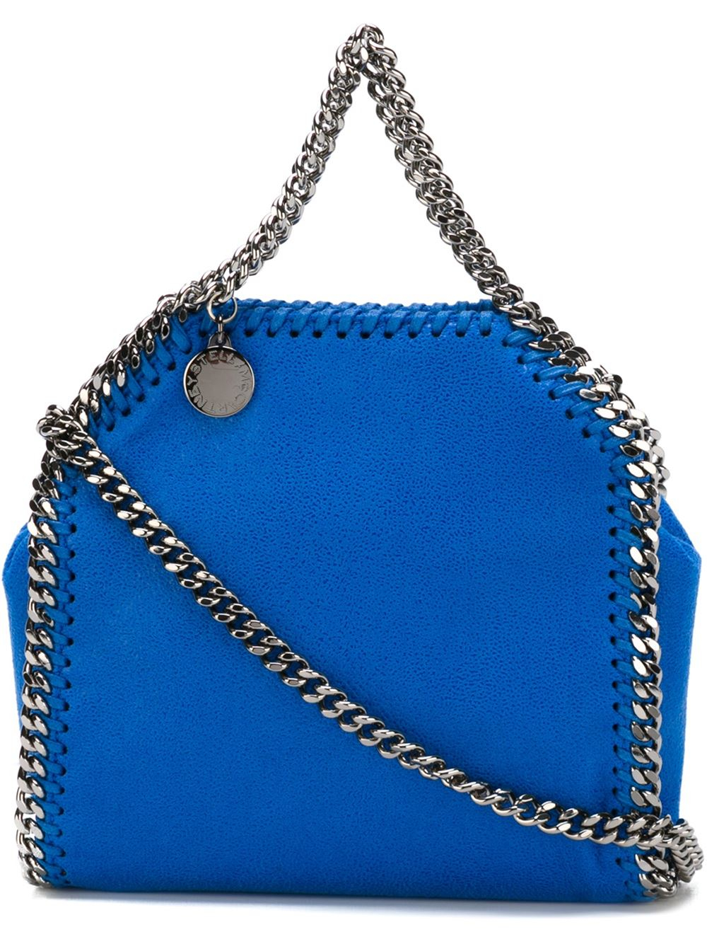 stella mccartney small 39 falabella 39 tote in blue lyst. Black Bedroom Furniture Sets. Home Design Ideas