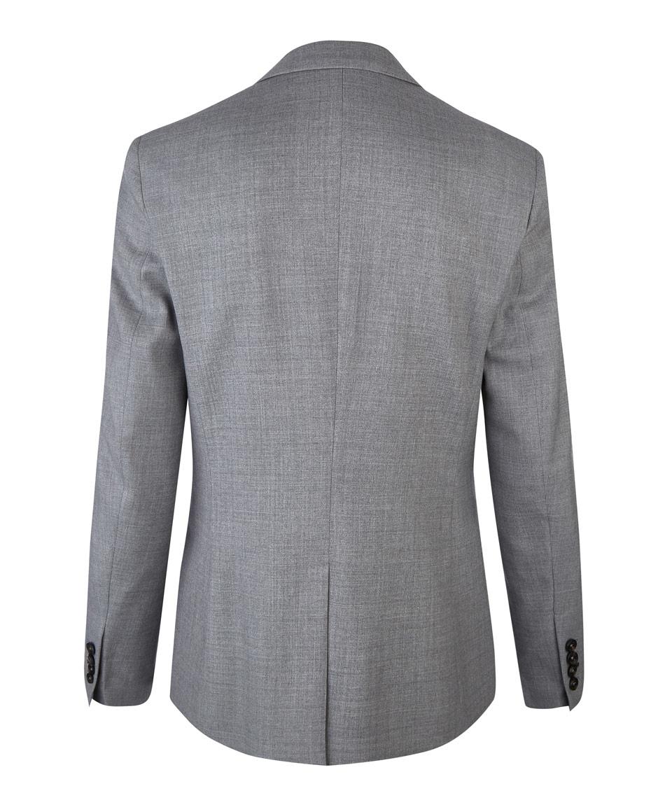 Paul Smith Black Label Grey Jacquard Rafia Lapel Jacket In