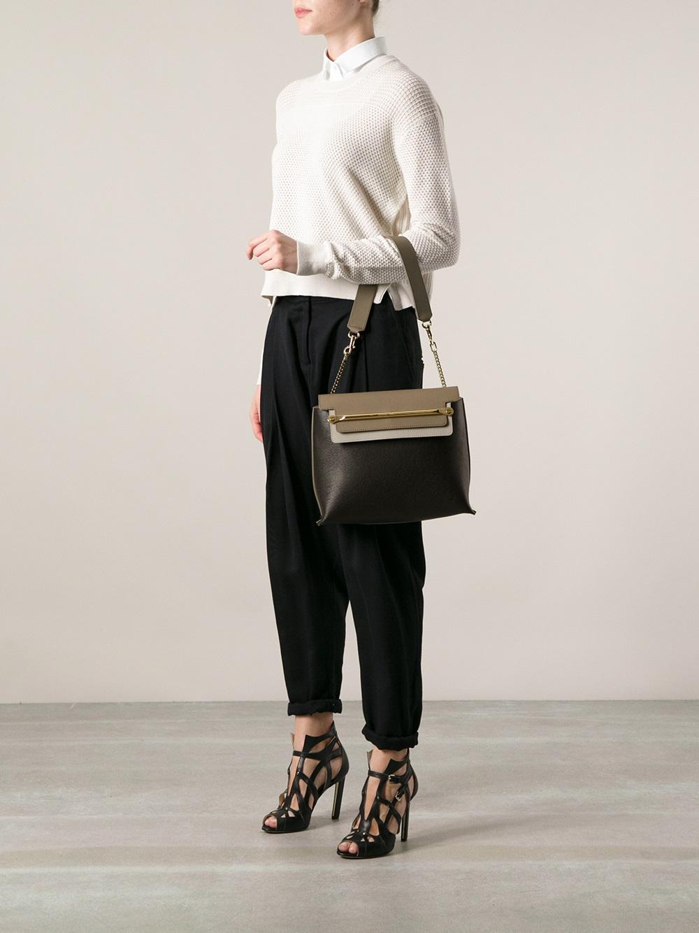 fake chloe bags uk - Chlo�� Medium \u0026#39;Clare\u0026#39; Shoulder Bag in Black | Lyst